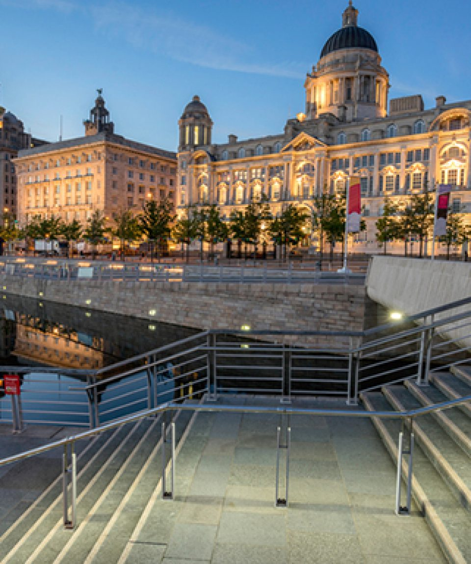 The Three Graces at Pier Head in Liverpool